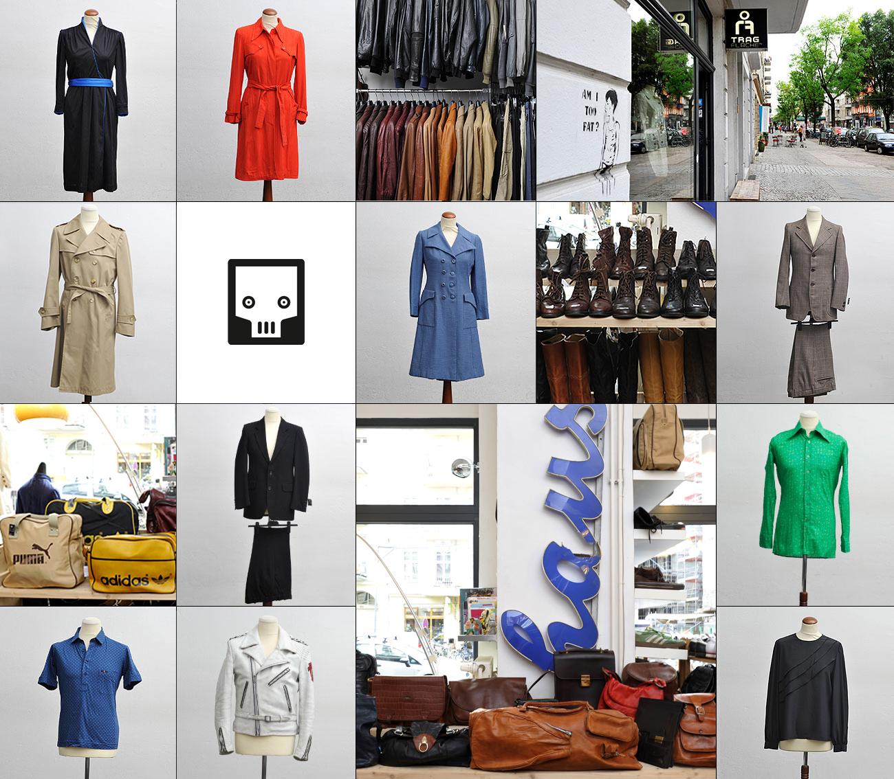Tragflaeche Vintage Originals sowie Unikate, Klamotten-Kollage
